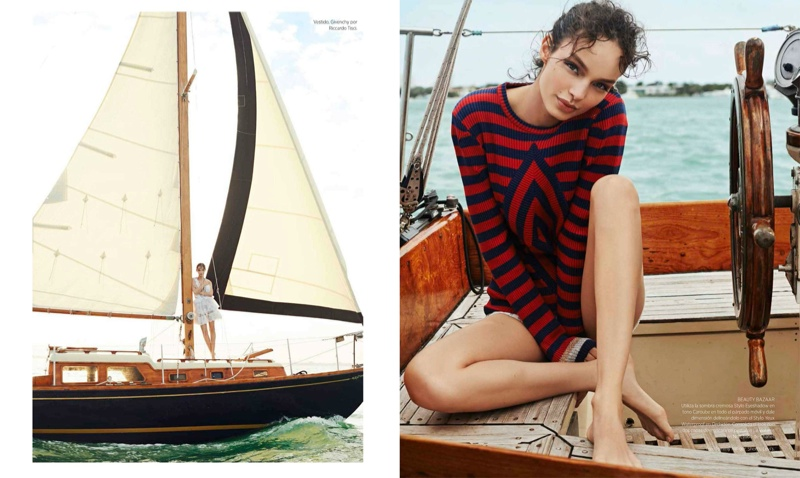 Nautical Style: Luma Grothe Poses for Danny Cardozo in Harper's Bazaar Mexico