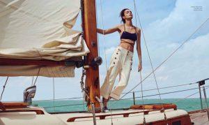 Nautical Style: Luma Grothe Poses for Danny Cardozo in Harper's Bazaar Mexico