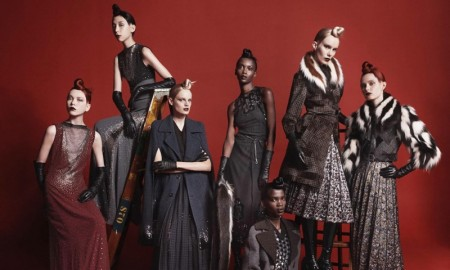 Models Varya Shutova, Issa Lish, Hanne Gaby Odiele, Riley Montana, Aamito Stacie Lagum, Sally Jonsson and Grace Simmons star in Marc Jacobs' fall-winter 2015 campaign