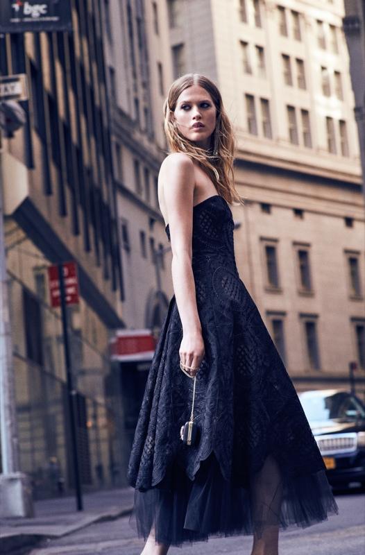 Laura Julie Models Dreamy Marchesa Notte Dresses for Shopbop