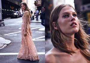 Laura Julie Models Dreamy Marchesa Notte Dresses for Shopbop