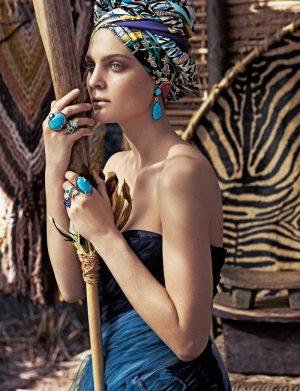 Marina Perez Models Tribal Chic Jewelry for Rabat by Xavi Gordo
