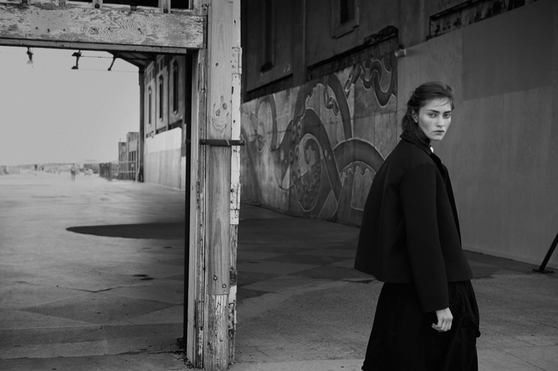 Marine Deleeuw Layers Up for Centrefold Magazine by Eric Guillemain