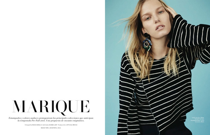 Marique Schimmel Stars in L'Officiel Mexico July/August 2015 Issue