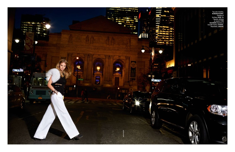 Marloes Horst Has a Stylish New York Outing for ELLE France