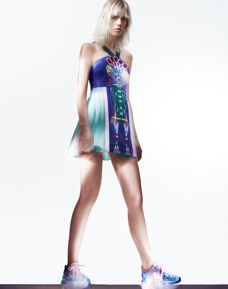 A look from the adidas Originals x Mary Katrantzou spring-summer 2015  collaboration