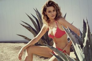 Mathilda Price Poses Poolside in Reserved's Summer 2015 Swimsuit Ads