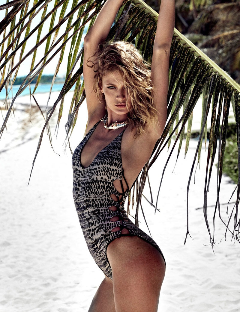 Michelle Buswell is a Swimsuit Stunner in Elle Spain by Xavi Gordo