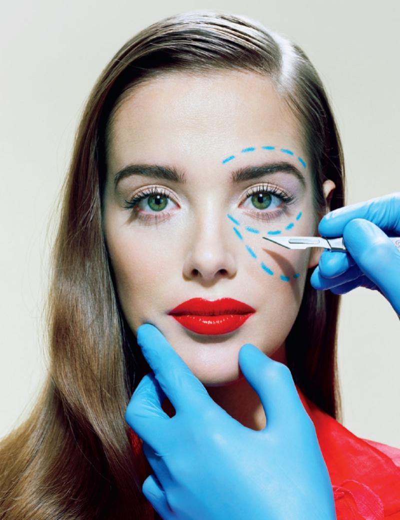 Miles Aldridge Lenses Plastic Surgery Inspired Spread for Time Magazine