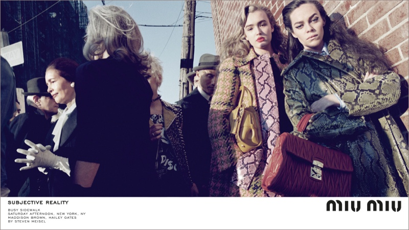Miu Miu went to New York City for the street photographed advertisements