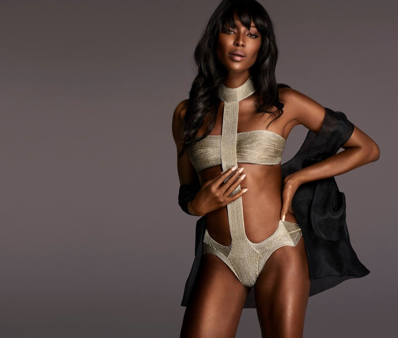 Naomi Campbell Brings Some Supermodel Appeal to La Perla Made to Measure Ads