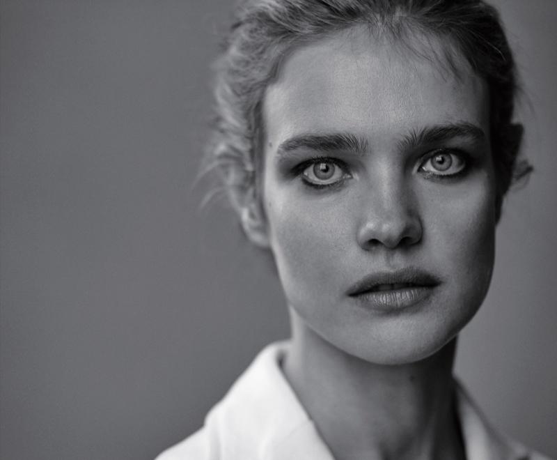 Natalia stuns in this black and white closeup shot
