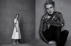 Natalia Vodianova Stuns in Black & White for Dior Magazine