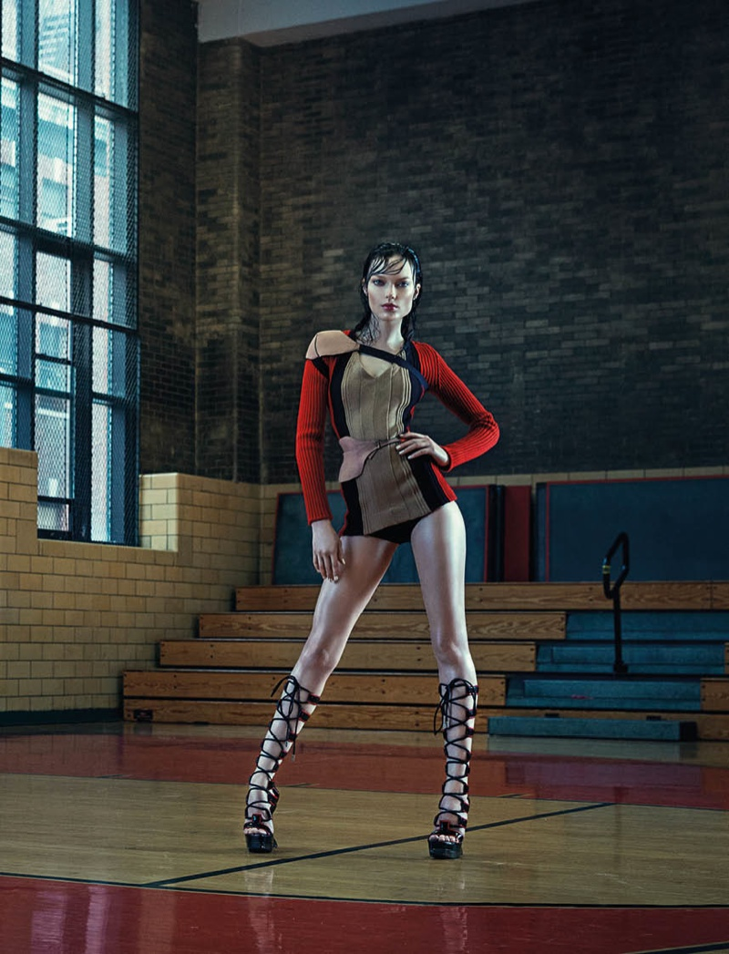 Naty Chabanenko Hits the Gym for L'Officiel Ukraine Cover Story