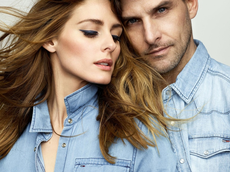 The style star is joined by her husband Johannes Huebl for the feature