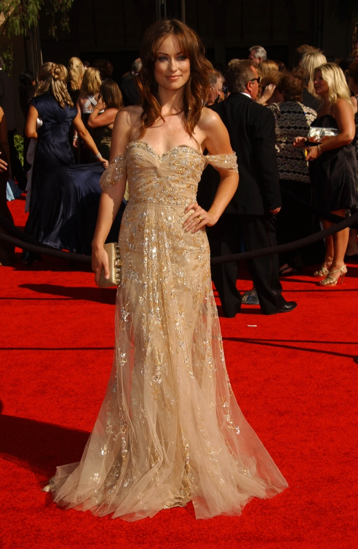 Olivia Wilde stunned in an off the shoulder gown from Zuhair Murad Couture at the 2007 Primetime Emmy Awards. Photo: s_buckley / shutterstock.com