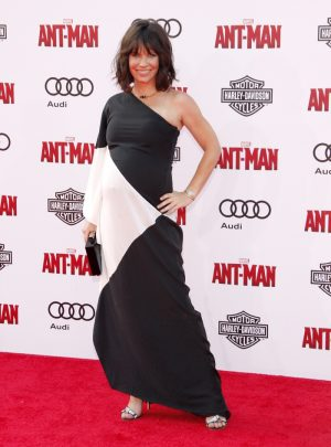 A Pregnant Evangeline Lilly Glows in Halston Heritage at the 'Ant-Man' LA Premiere