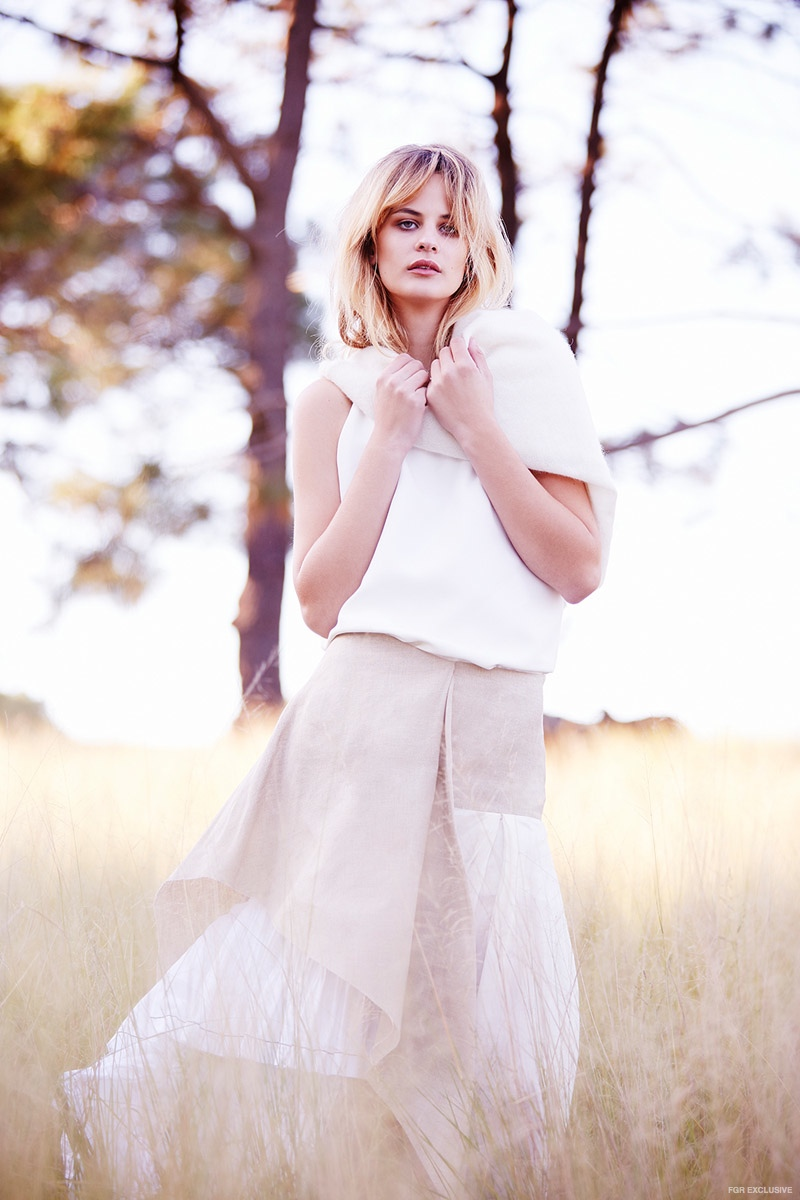 Raey Crepe Cami Top available at Matches Fashion, Jac+Jack 'Floyd' Sweater, Marni Beige Linen Skirt