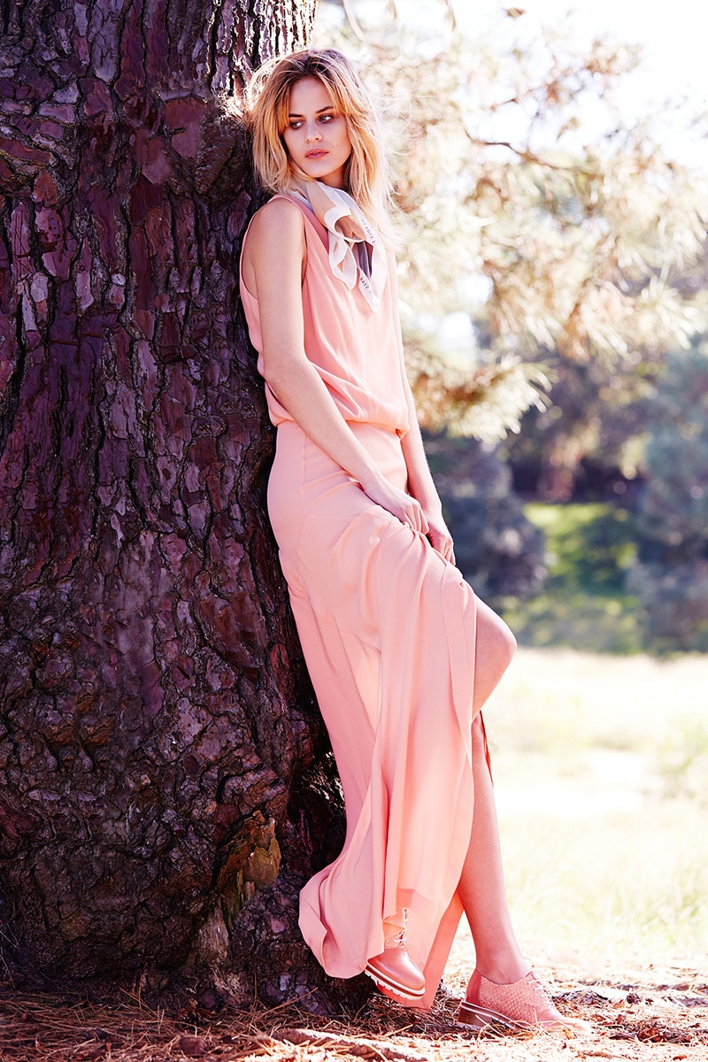 Willow Coral Pink Dress, Deadly Ponies 'Death Comes Twice' Scarf, Beaucoops Faux Pink Shoes