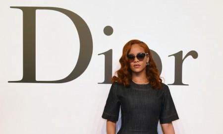 Rihanna wears Dior denim dress in Tokyo
