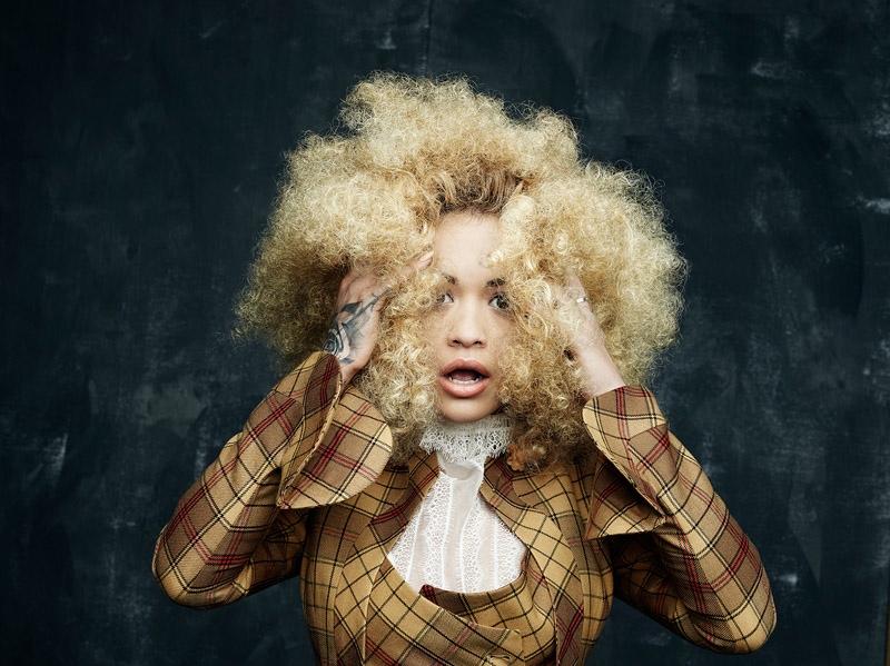 Rita Ora Rocks Curly Hair for Hunger Magazine by Rankin