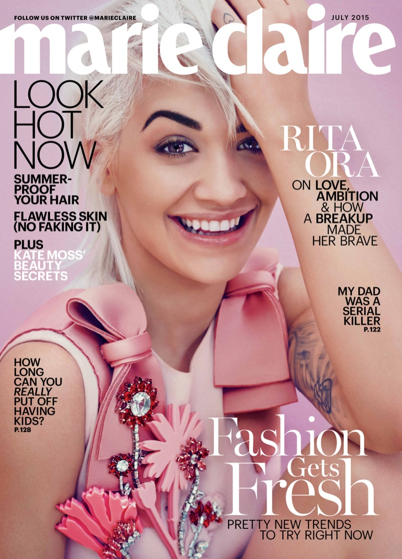 Rita Ora lands the July 2015 cover of Marie Claire