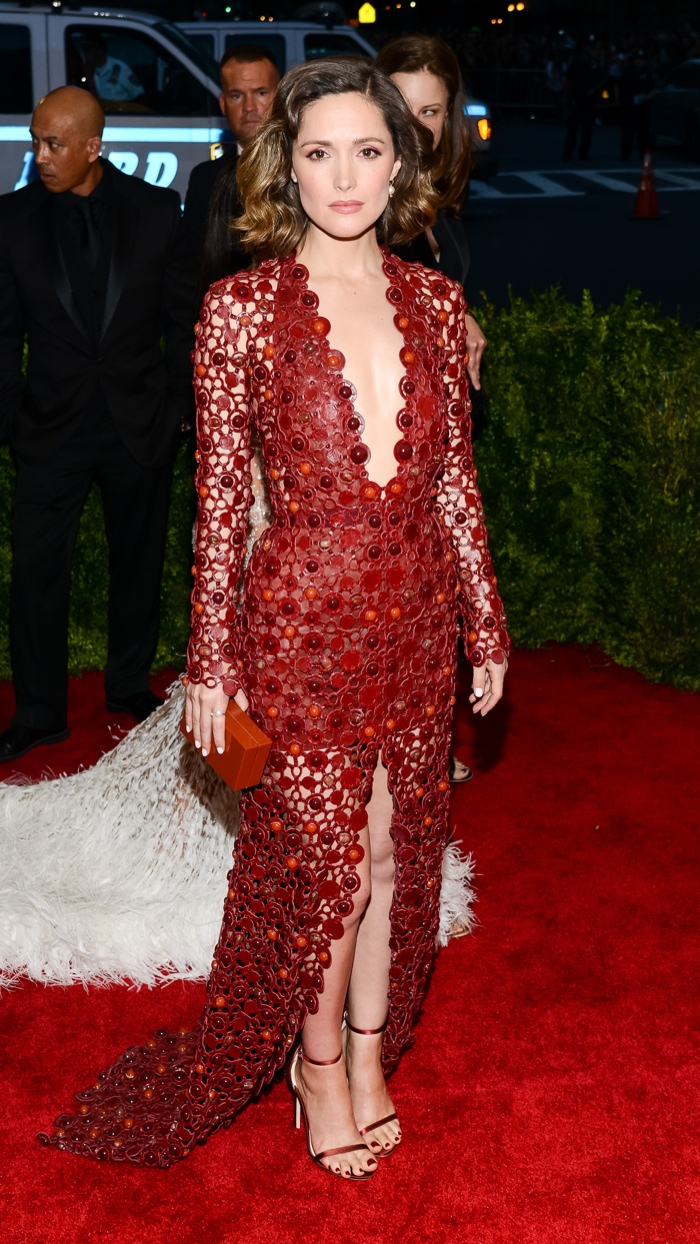 Rose was a stunner a the 2015 Met Gala wearing a custom Calvin Klein Collection dress in red. The intricate embellishments certainly stood out at the event. Photo: Electrolysis / Shutterstock.com