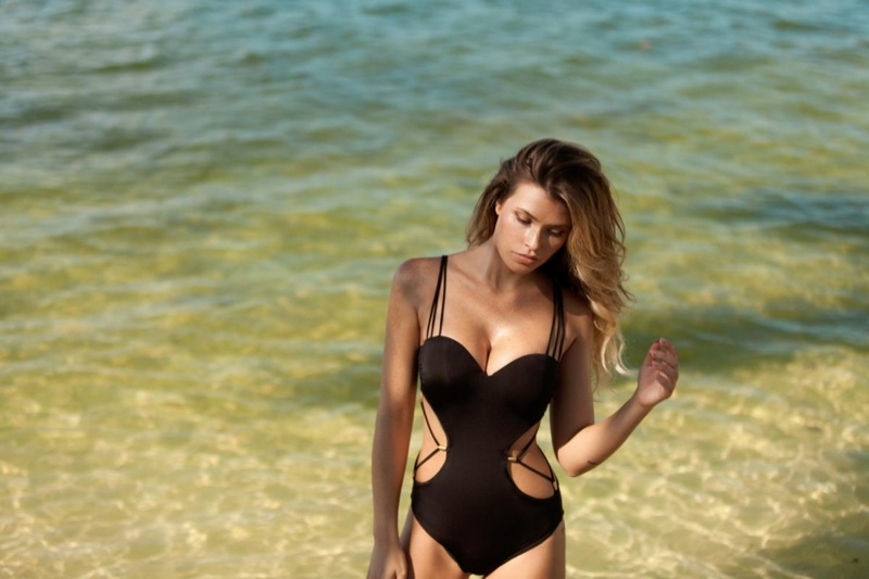 Samantha Hoopes Sizzles in Plumeria Swimsuit Photos