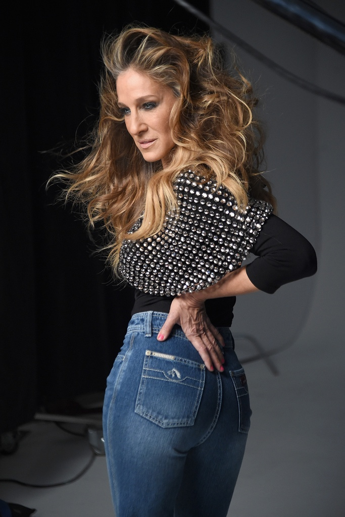Sarah Jessica Parker behind the scenes at Jordache campaign shoot