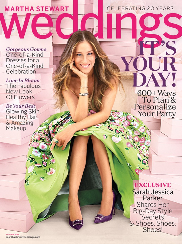 Sarah Jessica Parker graces the summer 2015 cover of Martha Stewart Weddings