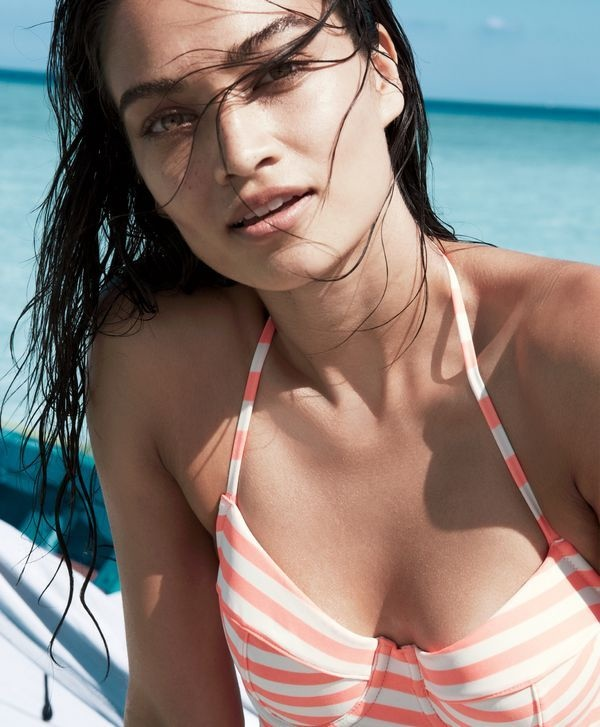 Shanina stars in J. Crew's summer style guide wearing swimsuits