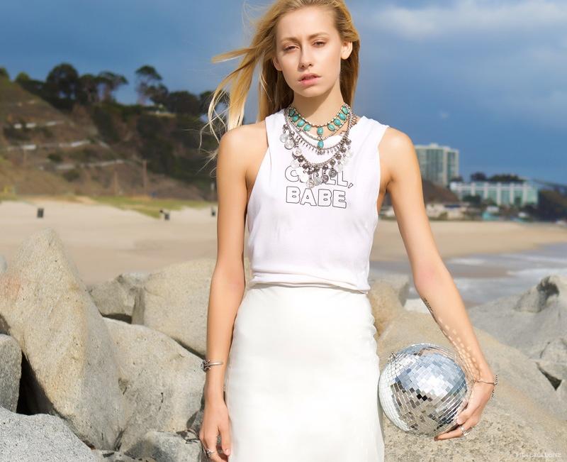 Shannon wears Jewelry Vanessa Mooney, Tee Mate the Label
