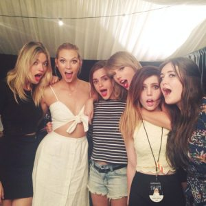 Squad Goals: Emma Watson, Karlie Kloss Pose with Taylor Swift on '1989' Tour