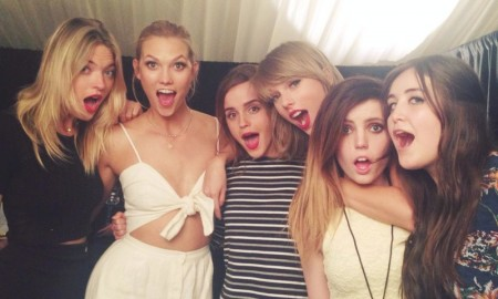 Martha Hunt, Karlie Kloss, Emma Watson, Taylor Swift, Sydney Sierota, and Lauren Aquilina. Photo: Twitter