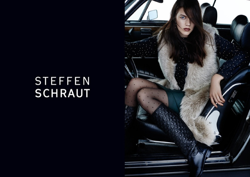 Antonia Wesseloh Fronts Steffen Schraut Fall 2015 Ads