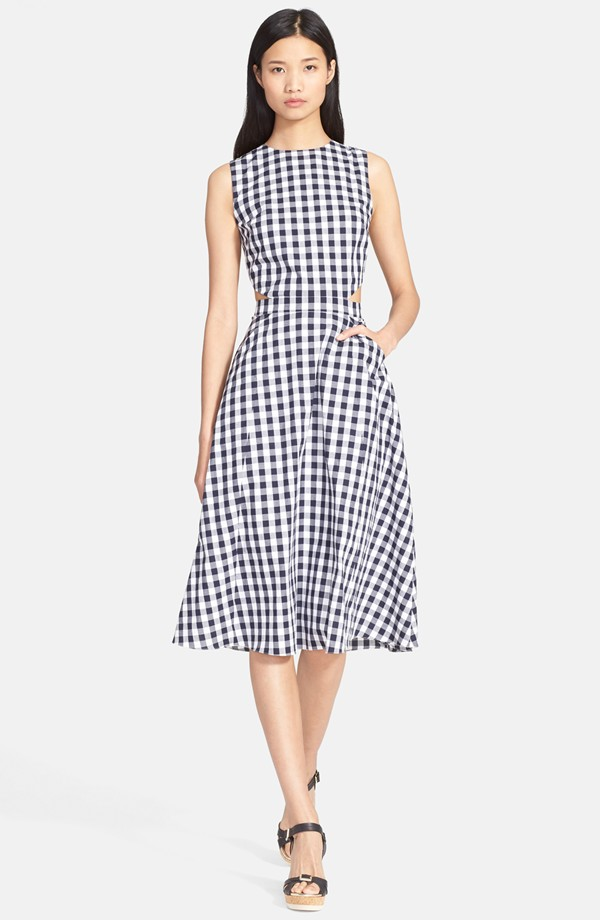 Tanya Taylor Monica Gingham Fit Flare Dress Available 495 00