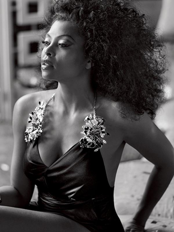 Taraji wears 1970s inspired curls for the photo shoot