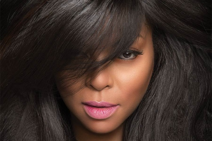Taraji poses in a closeup image