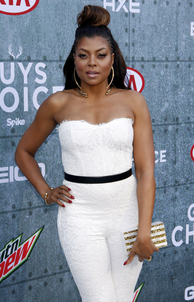 Taraji P. Henson Debuts Purple & Grey Hair - See the Images
