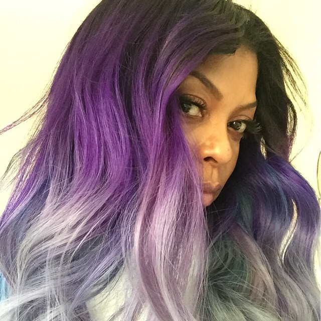 AFTER: Taraji P. Henson debuts purple and grey hair on Instagram