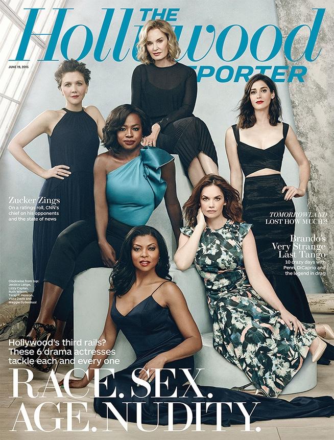 Taraji P. Henson, Viola Davis, Lizzy Caplan, Maggie Gyllenhaal, Jessica Lange, and Ruth Wilson cover The Hollywood Reporter