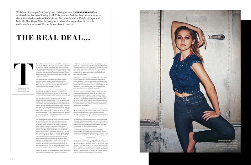 Teresa Palmer for Vs. Magazine