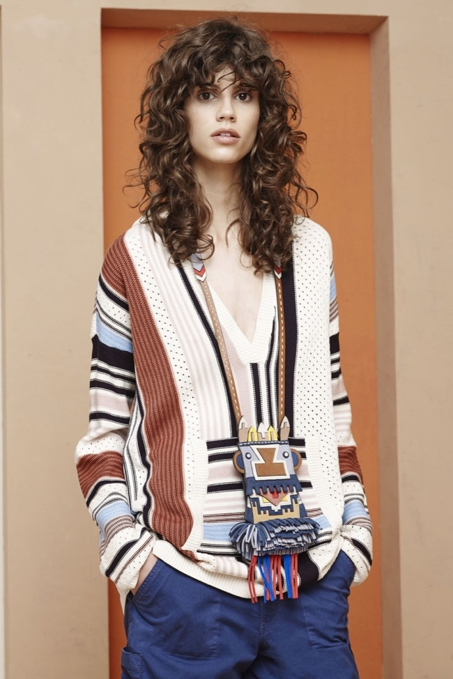 A look from Tory Burch's resort 2016 collection