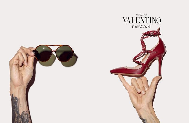 Valentino Has Us Seeing Stripes for Its Fall Accessories Campaign