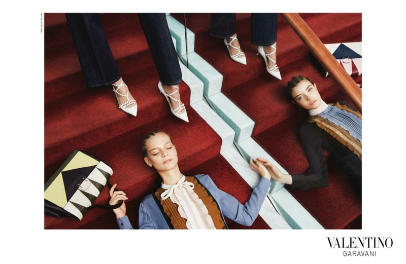 The Valentino pre-fall 2015 campaign was photographed by  Michal Pudelka