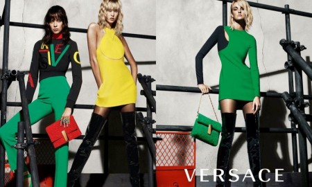 Lexi Boling, Karlie Kloss and Caroline Trentini star in Versace fall-winter 2015 campaign