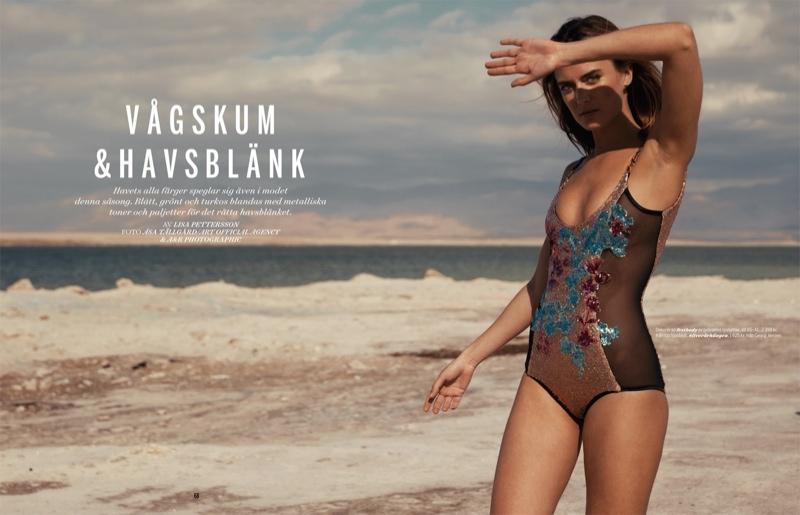 Yana Karpova Shines for Damernas Shoot by Asa Tallgard
