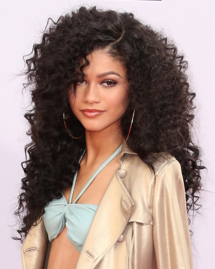 Zendaya pumps up the volume with a gorgeous and long curly hairstyle.  Photo: Helga Esteb / Shutterstock.com