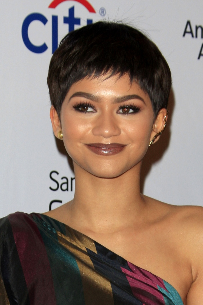 Zendaya sported a wig with this pixie style haircut. Photo: Helga Esteb / Shutterstock.com