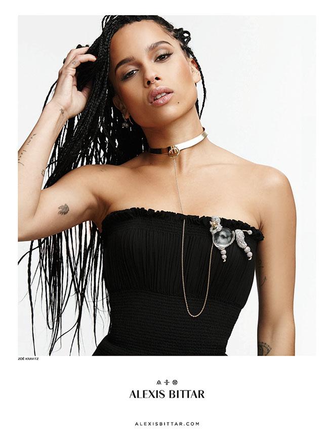 Zoe Kravitz Wears Box Braids in Alexis Bittar Ad